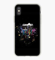 Capturing Colour (Black) iPhone Case