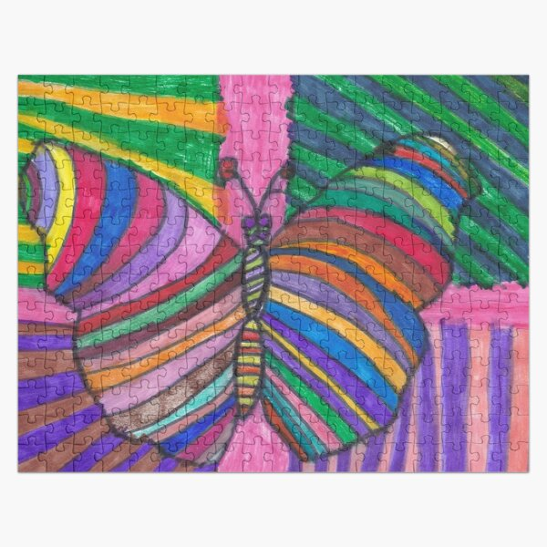 Psychedelic Butterfly Jigsaw Puzzle