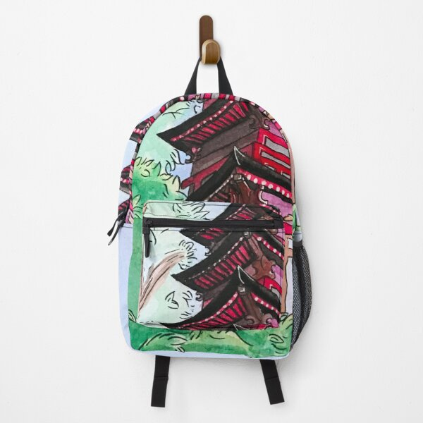 Japanese Multi-Roofed Tower Building Backpack