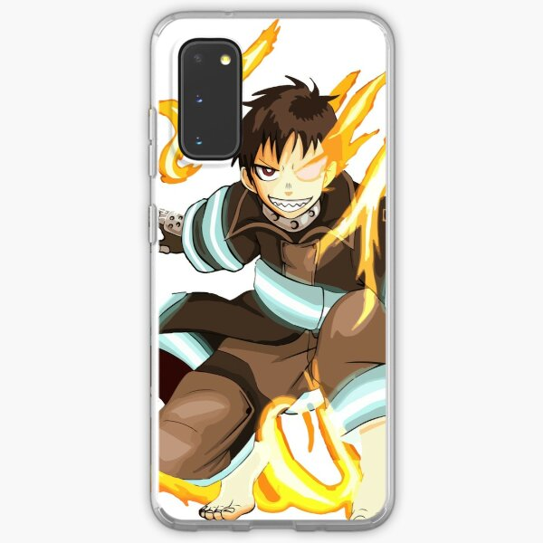 Fire Force Shinra Kusakabe Anime Art Samsung Galaxy Soft Case