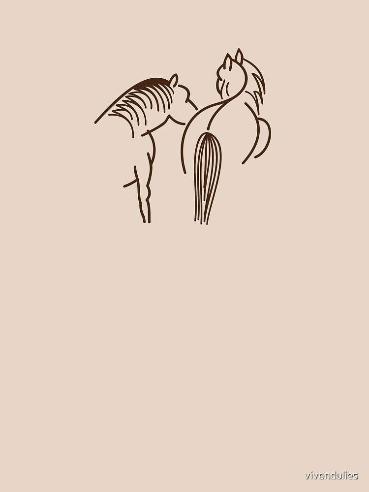 Two Horses (dark brown) VRS2 by vivendulies