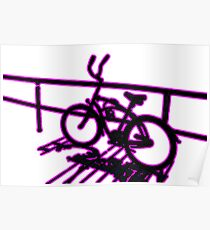 Boardwalk Bicycle Pink Poster