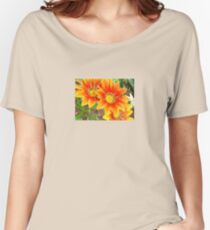 Vibrant Yellow and Vermillion Gazania Rigens Flower Women's Relaxed Fit T-Shirt