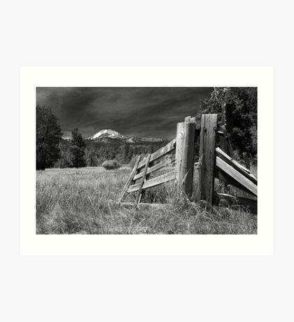 Old Fence At Mount Lassen Art Print