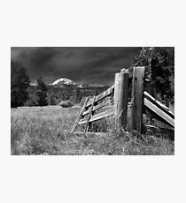 Old Fence At Mount Lassen Photographic Print