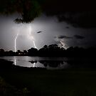 Lghtning over the lake by Joe Manno