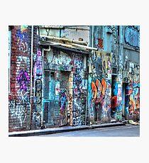 Laneways Photographic Print