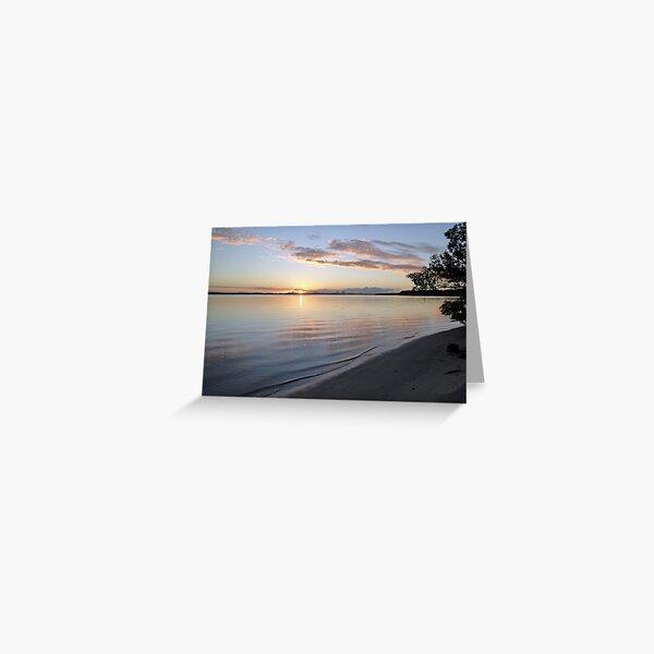 Sunset at Bribie Island Greeting Card