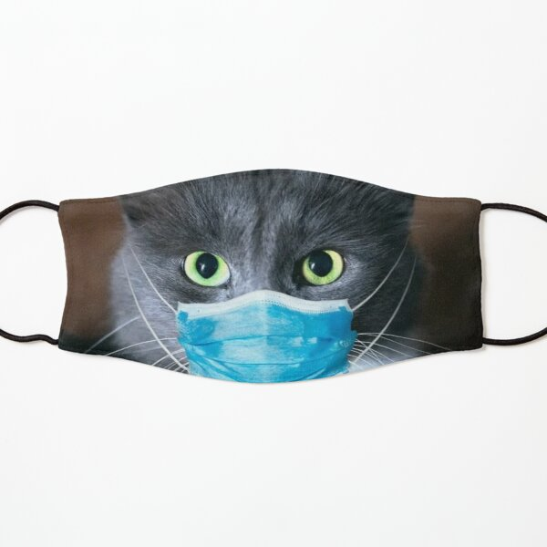 Cute Cat With Face Mask Kids Mask