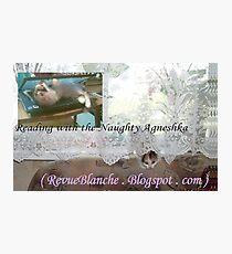 reading with Naughty Agneshka Photographic Print