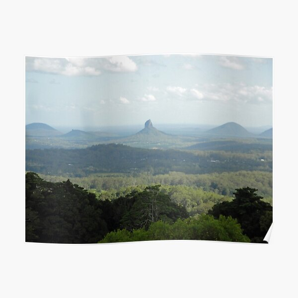 Glass House Mountains - From Melany Lookout Poster