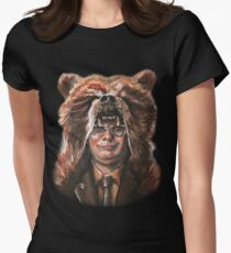 Bear Schrute Women's Fitted T-Shirt