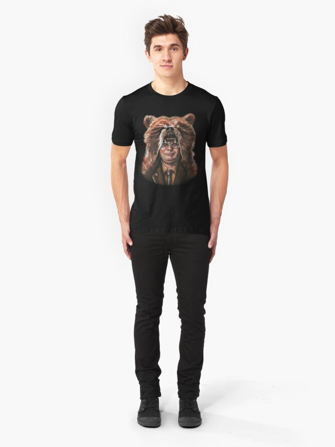 Alternate view of Bear Schrute Slim Fit T-Shirt