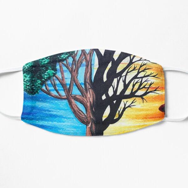 Sommer gegen verbrannter Baum Flache Maske