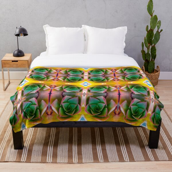 I love succulents Throw Blanket