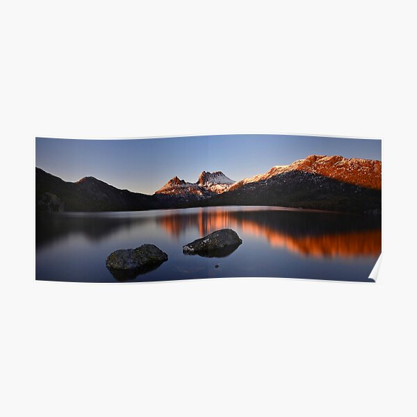 Sunrise at Cradle Mountain.  Poster