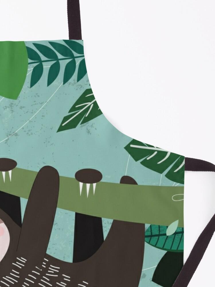 Alternate view of Woodland Jungle Tree Sloth Apron