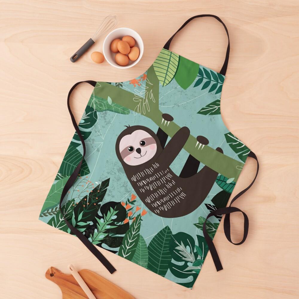 Woodland Jungle Tree Sloth Apron