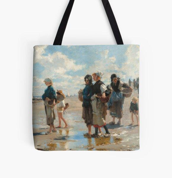 John Singer Sargent - En route pour la peche (Setting Out to Fish) All Over Print Tote Bag