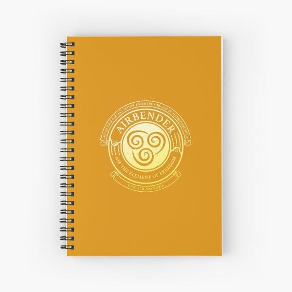 ATLA Airbender Symbol: Avatar-Inspired Design Spiral Notebook