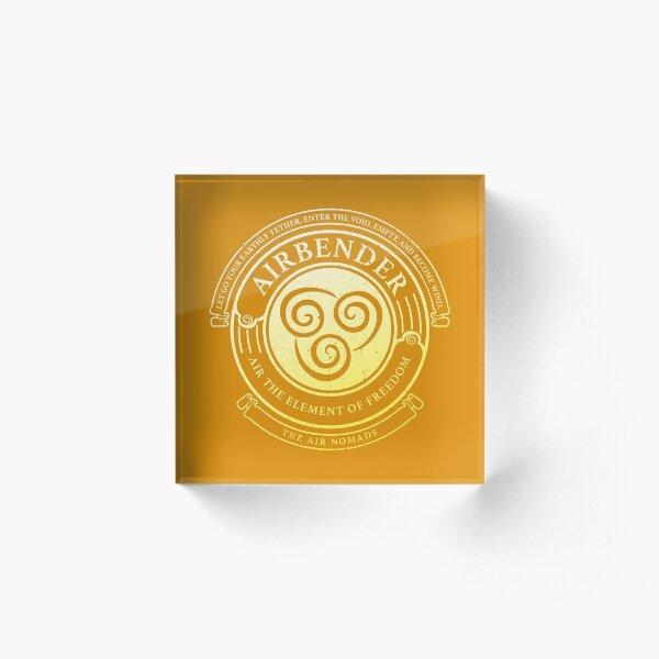 ATLA Airbender Symbol: Avatar-Inspired Design Acrylic Block