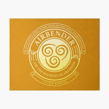 ATLA Airbender Symbol: Avatar-Inspired Design Art Board Print