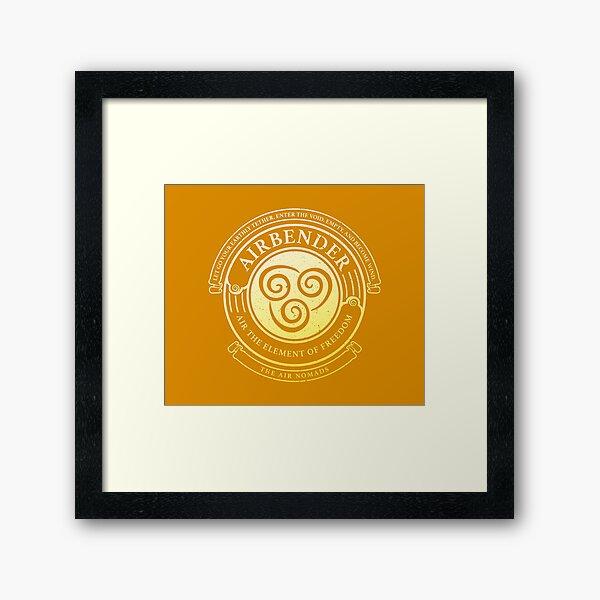 ATLA Airbender Symbol: Avatar-Inspired Design Framed Art Print