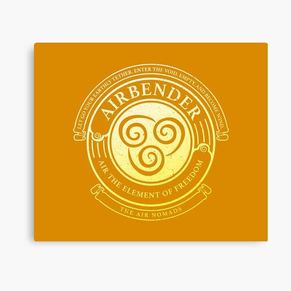 ATLA Airbender Symbol: Avatar-Inspired Design Canvas Print