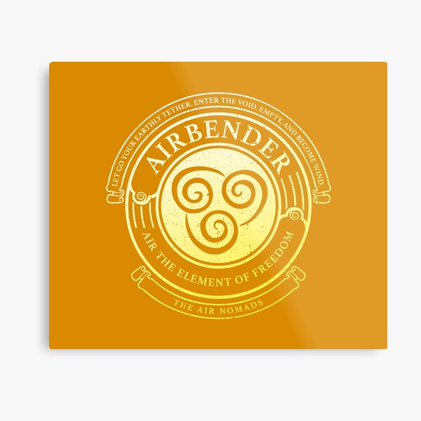 ATLA Airbender Symbol: Avatar-Inspired Design Metal Print