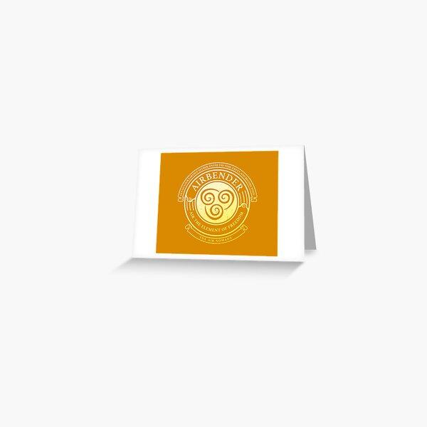 ATLA Airbender Symbol: Avatar-Inspired Design Greeting Card