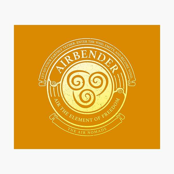 ATLA Airbender Symbol: Avatar-Inspired Design Photographic Print