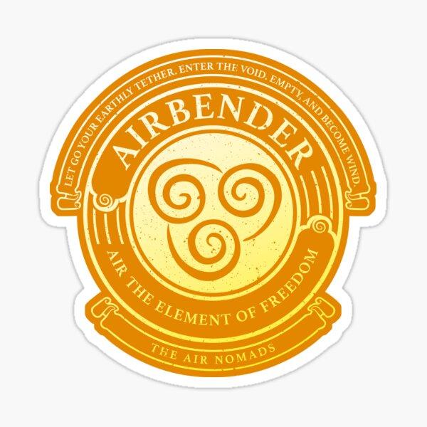 Airbender Symbol: Avatar-Inspired Design v2 Sticker