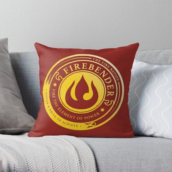 Firebender Symbol: Avatar-Inspired Design v2 Throw Pillow