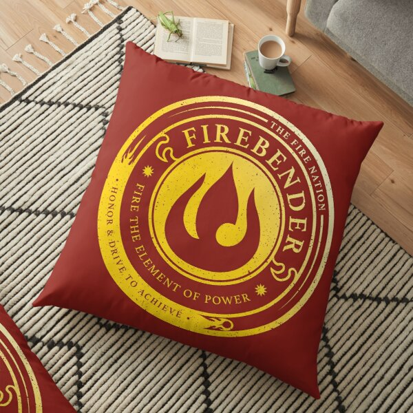 ATLA Firebender Symbol: Avatar-Inspired Design Floor Pillow