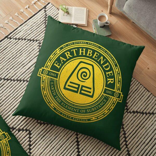 ATLA Earthbender Symbol: Avatar-Inspired Design Floor Pillow