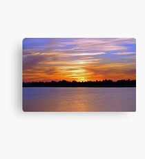 Orange & Blue Sunset Canvas Print