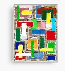 WASTE COLLAGE Canvas Print
