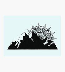 Mountain Mandala Photographic Print