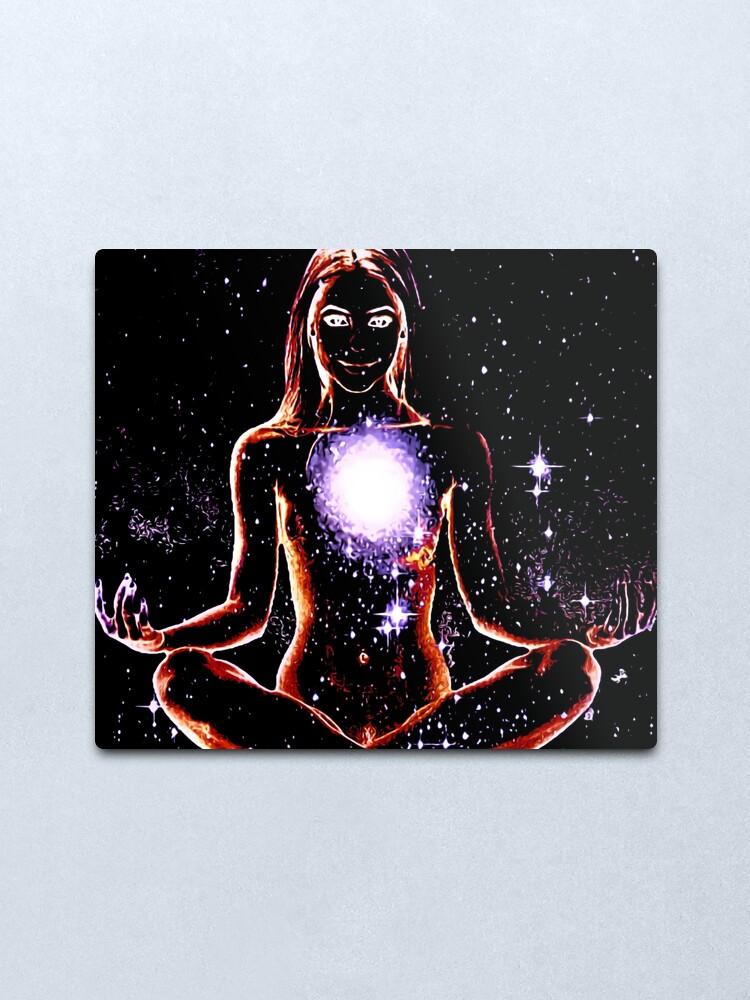Alternate view of Meditation Of The Moon Goddess Metal Print
