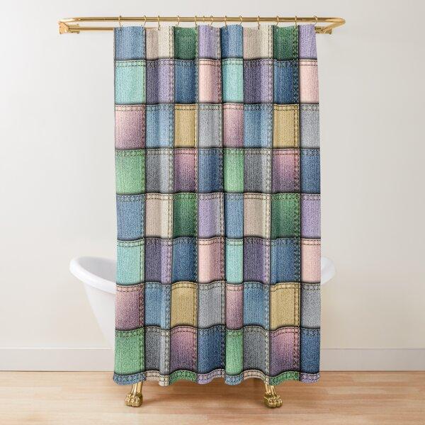 Jeans patchwork Shower Curtain