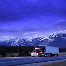 Semi Trailer Truck by printscapes