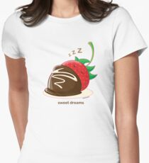 Cute Sweet Dreams Chocolate Strawberry Women's Fitted T-Shirt