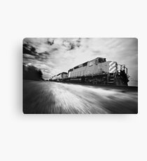 Fast Speeding Train Canvas Print