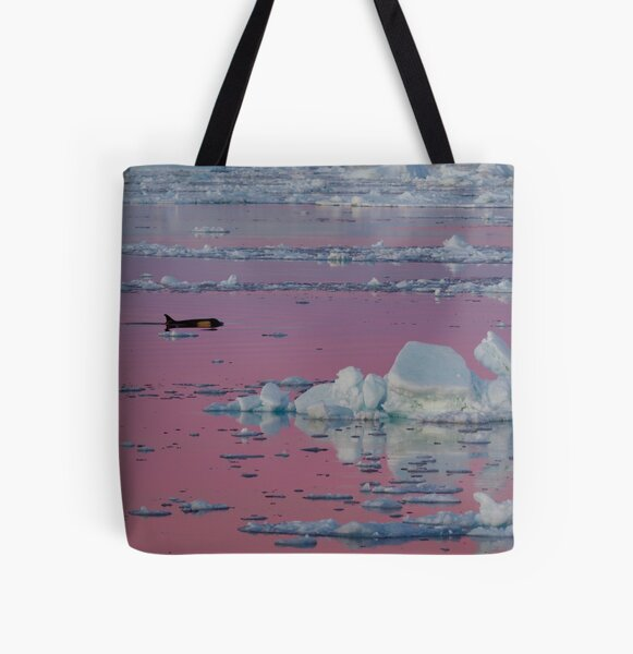 Orca Sunset All Over Print Tote Bag