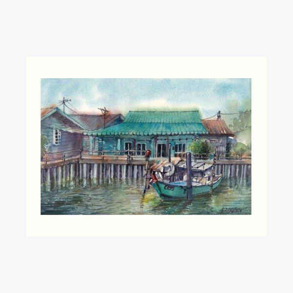 Peaceful Palau Ketam Art Print