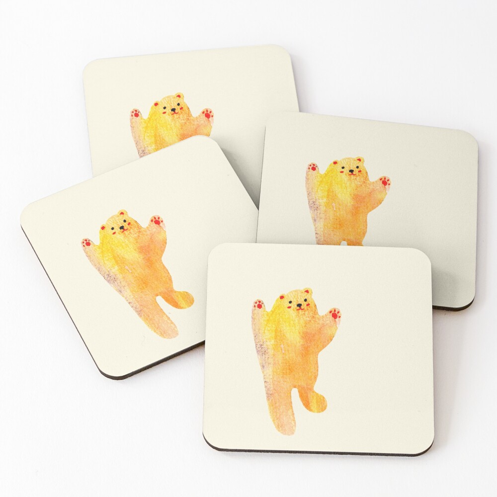Dancing Bear Coasters (Set of 4)