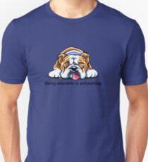 Being Adorable Bulldog Blue T-Shirt