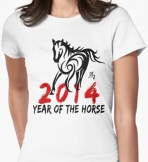 Chinese Zodiac Year of The Horse 2014 Women's Fitted T-Shirt