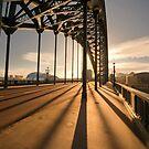 Iron Bridge at Sunset by printscapes