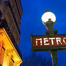 Metro Station in Paris by printscapes
